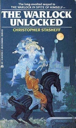 Modern Science Fiction Part 6: cover of US paperback edition of Christopher Stasheff's THE WARLOCK UNLOCKED.