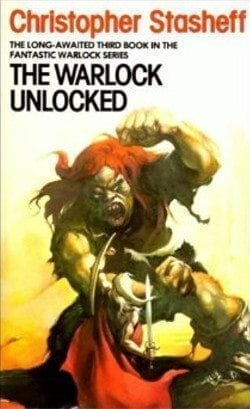Modern Science Fiction Part 6: cover of UK paperback edition of Christopher Stasheff's THE WARLOCK UNLOCKED.