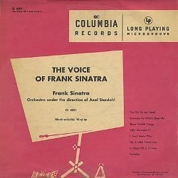 DVD Packaging: the first pop LP was Columbia CL-6001, THE VOICE OF FRANK SINATRA.