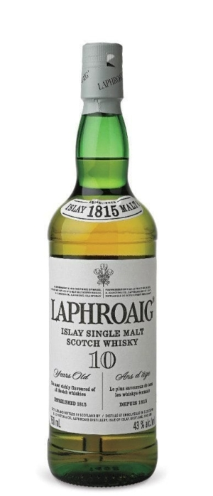 Always tell the truth: a bottle of 10-year-old Laphroig Scotch whiskey.