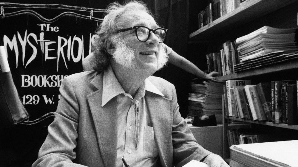 Humanism: photo of Issac Asimov, a former president of the American Humanists Association.