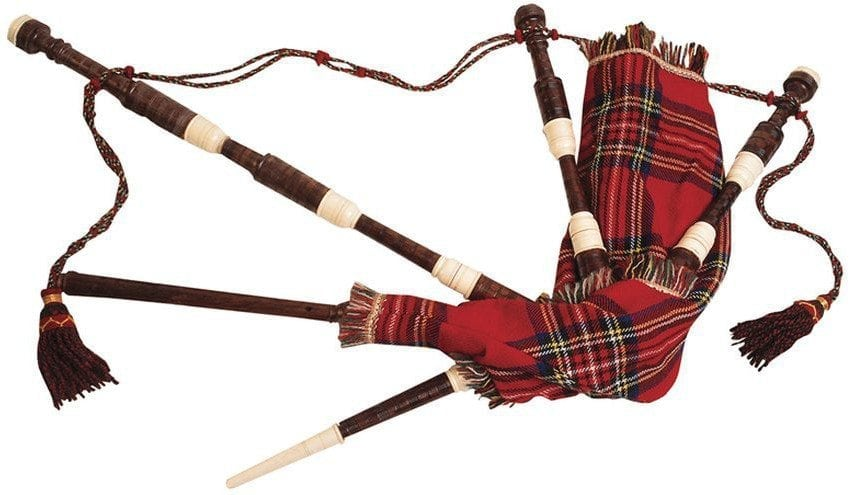 Bagpiper: photo of bagpipes.