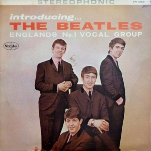 Snobs: photo of fake copy of stereo version of INTRODUCING THE BEATLES album.