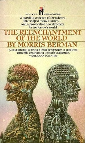Childhood Damage: front cover of the paperback edition of Morris Berman's THE REENCHANTMENT OF THE WORLD (1985).