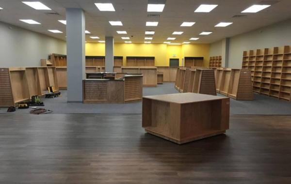 Interior of Brick & Mortar Books.