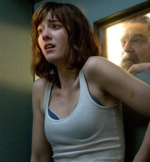 Photo of John Goodman and Mary Winstead from the movie 10 CLOVERFIELD LANE.