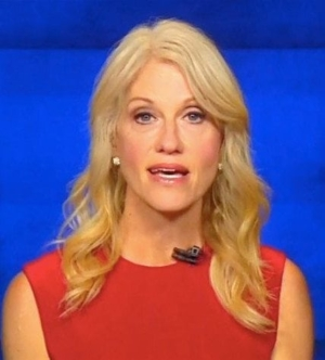 Rumor and Speculation: photo of Kellyanne Conway, counselor to the President.