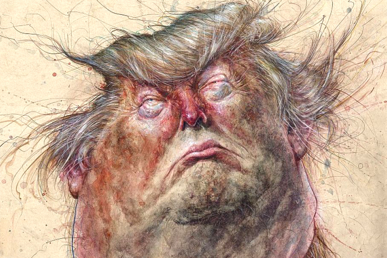 DonaldTrump caricature Oddonkey Hoppmann 1500 crop