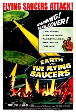 Back Then: poster for the 1956 movie EARTH VS. THE FLYING SAUCERS.