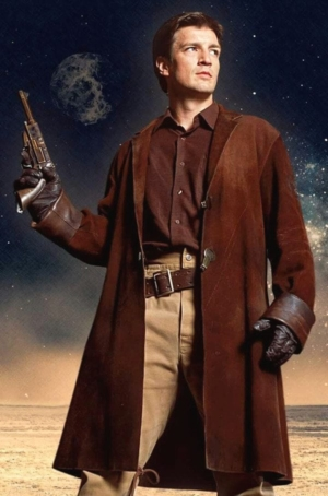 Pernicious: photo of Nathan Fillion as Mal Reynolds in Firefly.