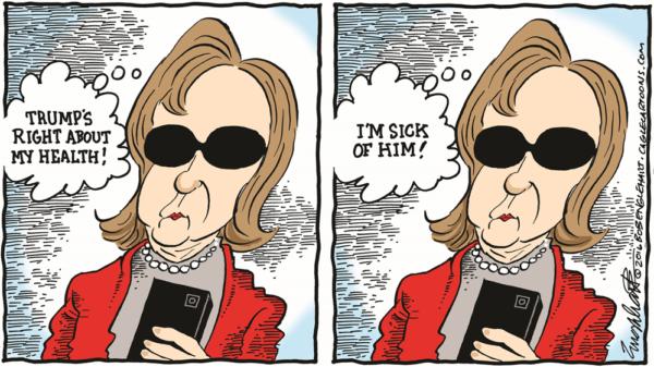 Moxie: cartoon of Hillary Clinton by Bob Englehart.