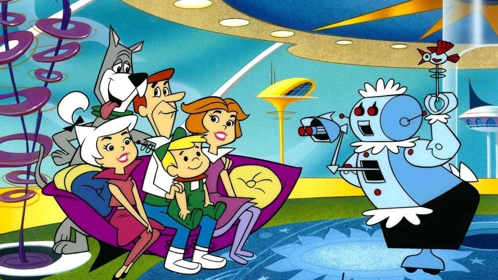 Rising Productivity: scene from the 1962-193 cartoon show THE JETSONS.