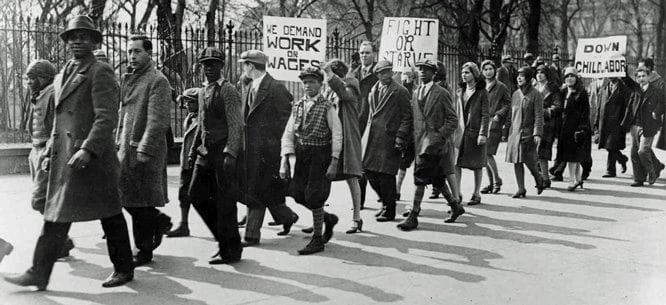 March Jobs Report Nothing Moving: photo of unemployed people in 1960s.