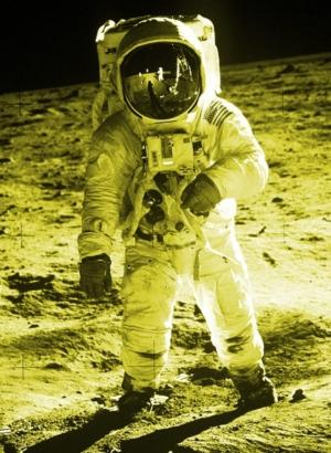 Medium IMAGE 1969 Apollo11 Aldrin 600 yellow crop