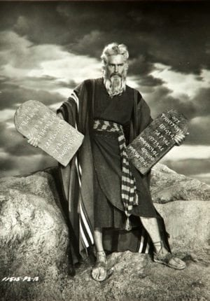 Misinformation: photo of Charlton Heston as Moses from the 1956 movie THE TEN COMMANDMENTS.