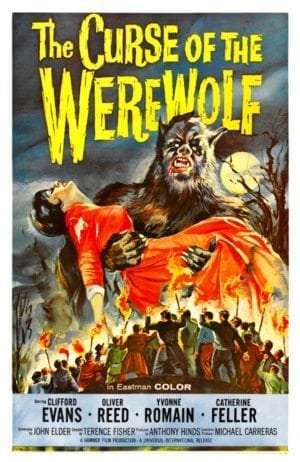 Back Then: poster for the 1961 movie THE CURSE OF THE WEREWOLF.