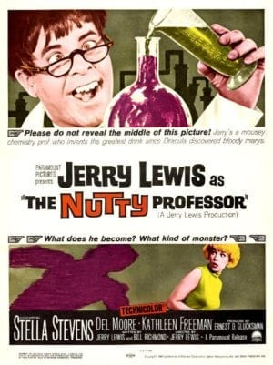 Back Then: poster for 1963 movie THE NUTTY PROFESSOR.