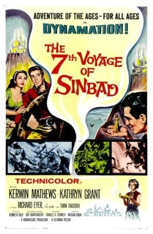 Back Then: poster for the 1958 movie THE 7TH VOYAGE OF SINBAD.