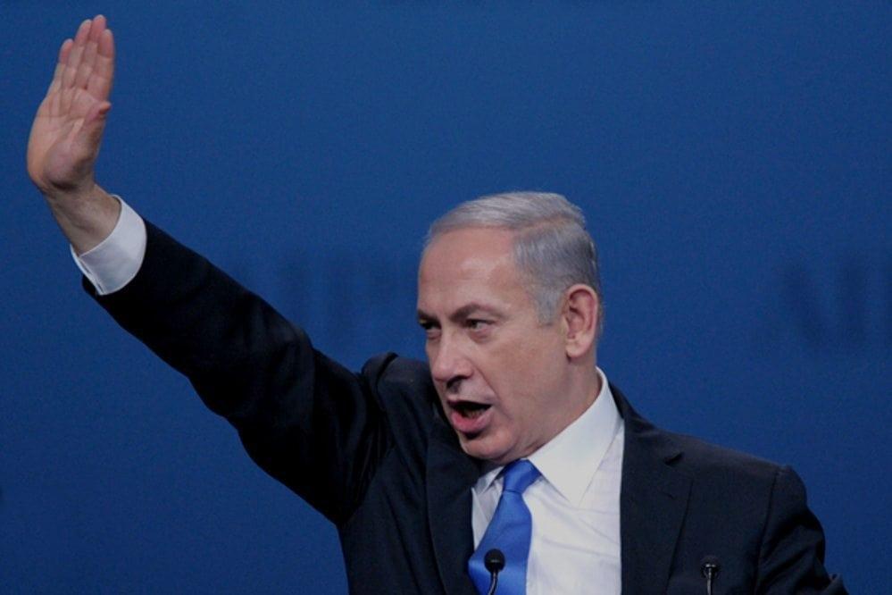 Netanyahu salute