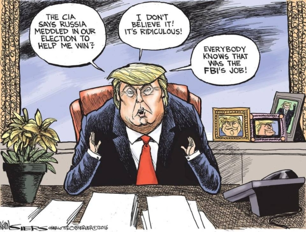 Sessionsgate: cartoon of Donald Trump by Kevin Siers.