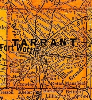 Vote-switching: Map of Tarrant County, Texas.