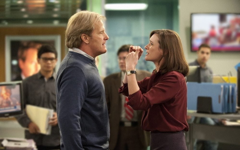 Fellow Americans: photo of Jeff Daniels and Emily Mortimer from THE NEWSROOM.