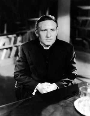 Bagpiper: photo of Spencer Tracy as a priest from the movie BOY'S TOWN.