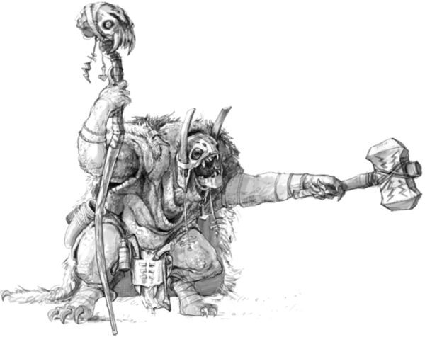 Leaving Forests: drawing of troll by Gamla Bror.