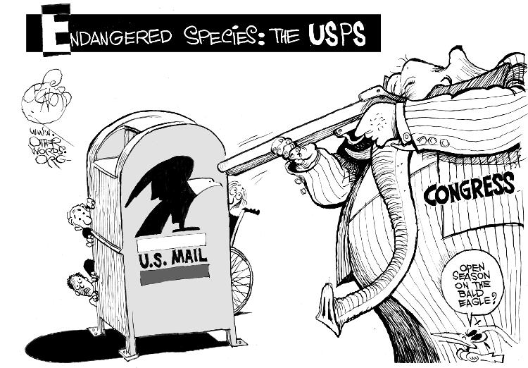 Cartoon by the ever-efficient Khalil Bendip.