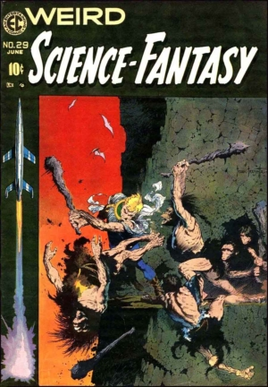 With Wally Wood: cover of WEIRD SCIENCE FANTASY #29 with art by Frank Frazetta.