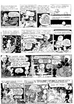 Part 1 of Art Spiegelman's VERY STRANGE COMIC STRIP from 1967.