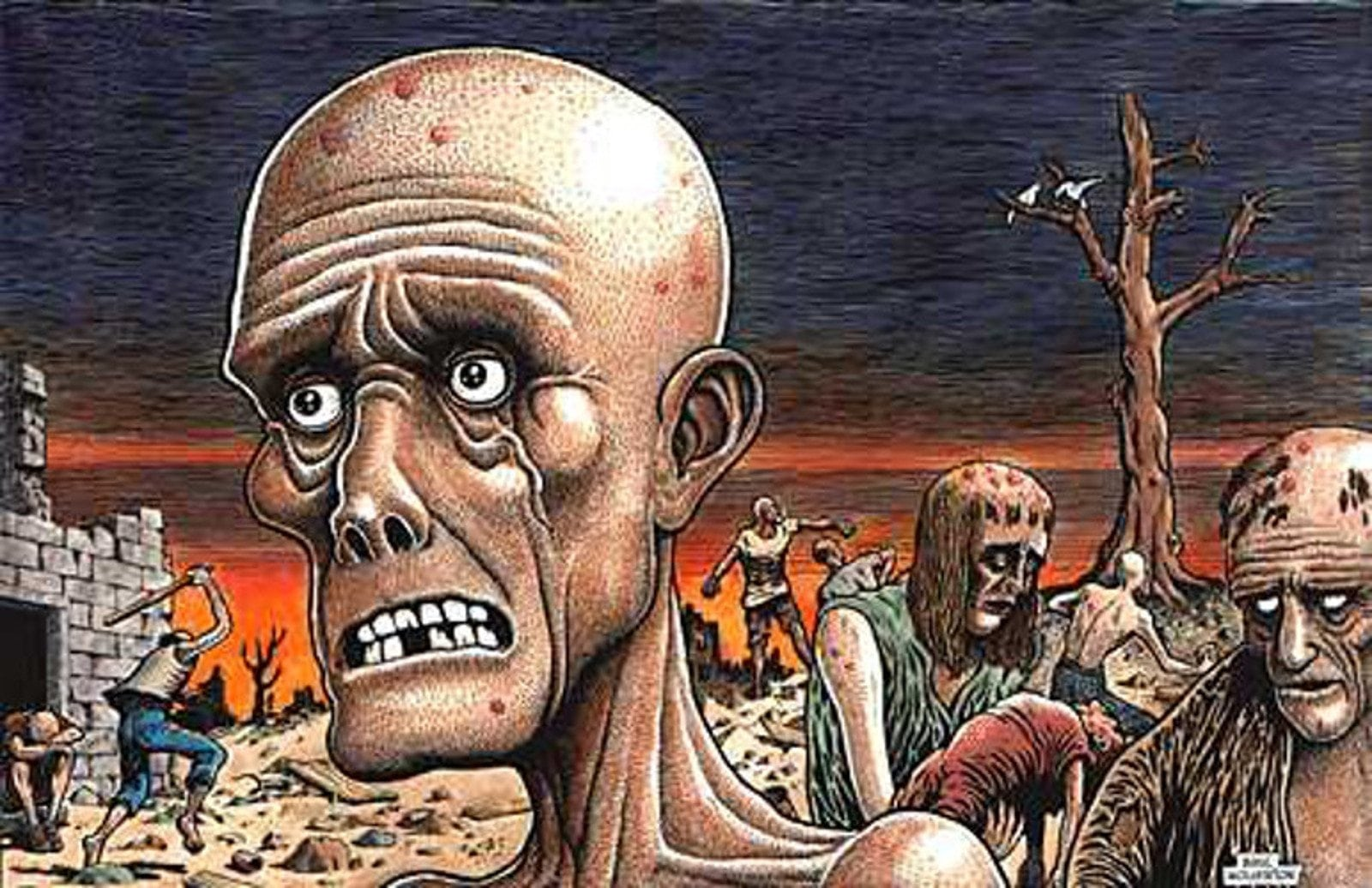 """The Apocalypse"" drawn by Basil Wolverton and colorized by his son Monte Wolverton"